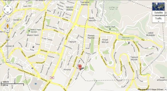 Map Kfar Etzion