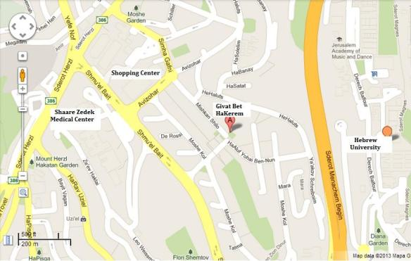 Givat Beit Hakerem map