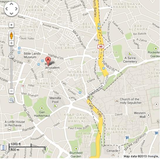 map jerusalem garden