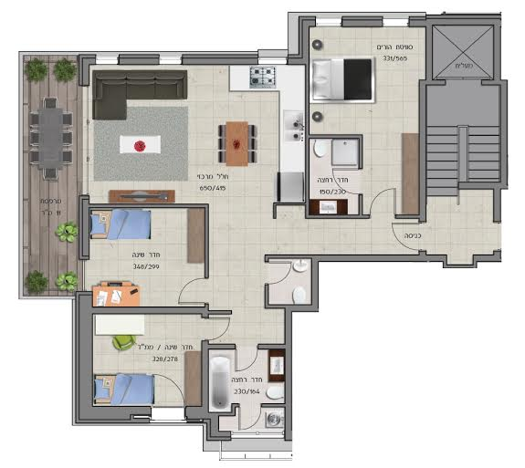 floor plan 4 rooms