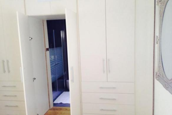 closets and bathroom entrance