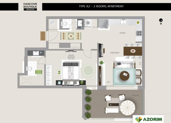 Sample 2 bedrooms