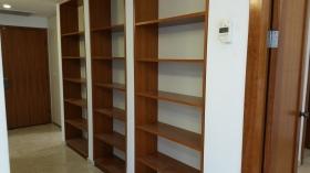 Shelves in foyer